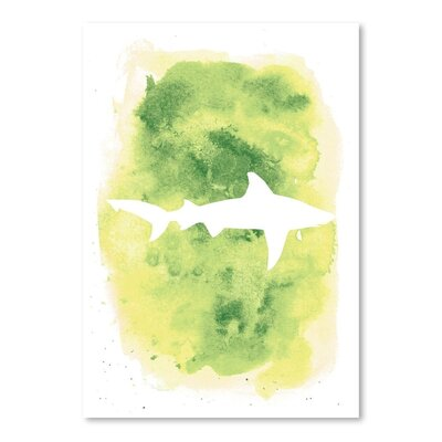 Americanflat 'Watercolour Shark' by Jetty Printables Graphic Art in Green