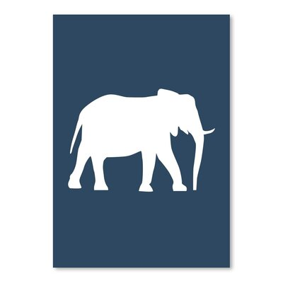 Americanflat 'Navy Elephant' by Jetty Printables Graphic Art