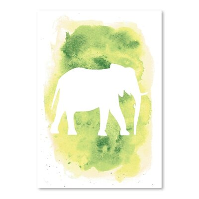 Americanflat 'Watercolour Elephant' by Jetty Printables Graphic Art