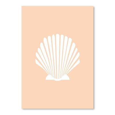 Americanflat 'Peach Shell' by Jetty Printables Graphic Art