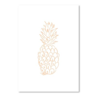 Americanflat 'Peach Pineapple' by Jetty Printables Graphic Art