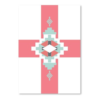 Americanflat 'Southwestern Cross' by Jetty Printables Graphic Art in Red