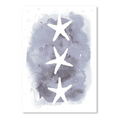 Americanflat 'Watercolour Background Starfish' by Jetty Printables Graphic Art