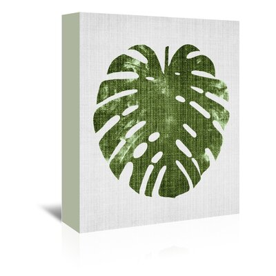 Americanflat 'Tropical Leaf 1' by Lila and Lola Graphic Art Wrapped on Canvas