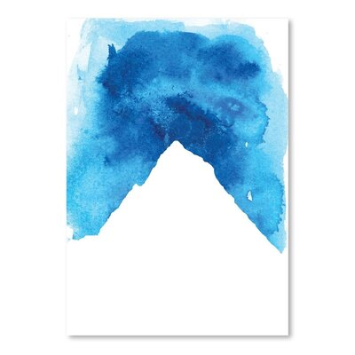 Americanflat 'Watercolourlue Mountain' by Jetty Printables Graphic Art