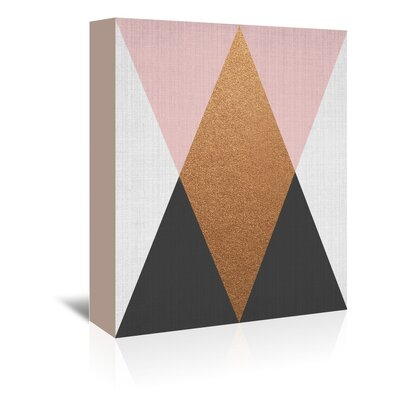 Americanflat 'Geometric Pink Bronze' by Lila and Lola Graphic Art Wrapped on Canvas