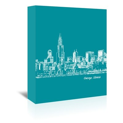Americanflat 'Skyline Chicago 4' by Brooke Witt Graphic Art Wrapped on Canvas