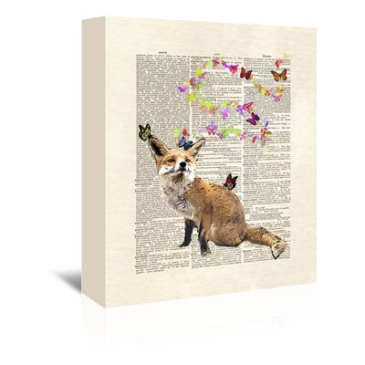 Americanflat 'Fox Butterflies' by Matt Dinniman Graphic Art Wrapped on Canvas