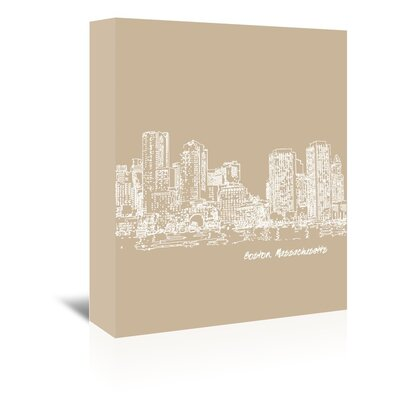 Americanflat 'Skyline Boston 7' by Brooke Witt Graphic Art Wrapped on Canvas