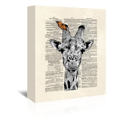 Americanflat 'Butterfly Giraffe' by Matt Dinniman Graphic Art Wrapped on Canvas