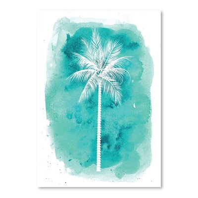 Americanflat 'Watercolour Background Palm' by Jetty Printables Graphic Art