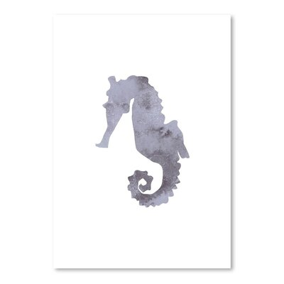 Americanflat 'Watercolour Seahorse' by Jetty Printables Graphic Art in Grey