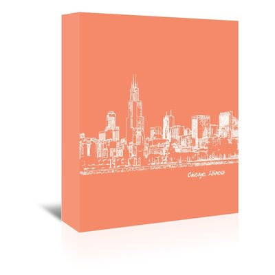 Americanflat 'Skyline Chicago 8' by Brooke Witt Graphic Art Wrapped on Canvas