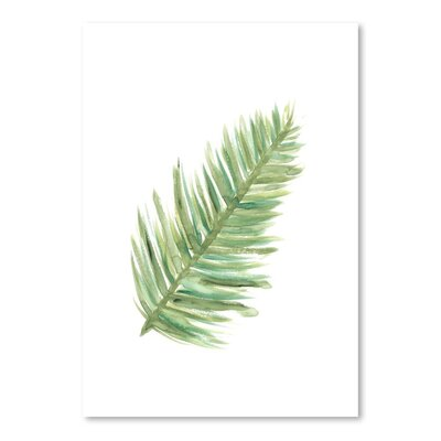 Americanflat 'Watercolour Palm 2' by Jetty Printables Graphic Art in Green