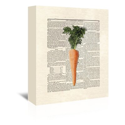 Americanflat 'Carrots' by Matt Dinniman Graphic Art Wrapped on Canvas