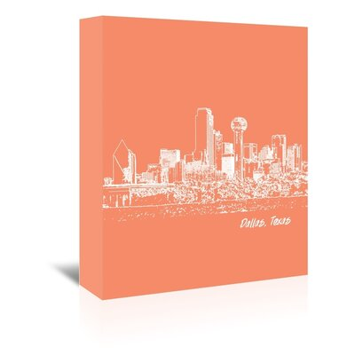 Americanflat 'Skyline Dallas 8' by Brooke Witt Graphic Art Wrapped on Canvas