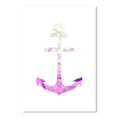 Americanflat 'Psychedelic Anchor' by Jetty Printables Graphic Art