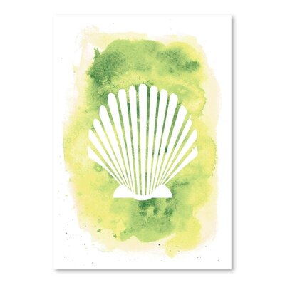 Americanflat 'Watercolour Scallop Shell' by Jetty Printables Graphic Art