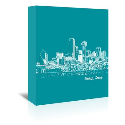 Americanflat 'Skyline Dallas 4' by Brooke Witt Graphic Art Wrapped on Canvas