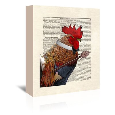 Americanflat 'Rooster Gentleman' by Matt Dinniman Graphic Art Wrapped on Canvas