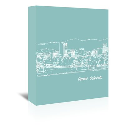 Americanflat 'Skyline Denver 5' by Brooke Witt Graphic Art Wrapped on Canvas