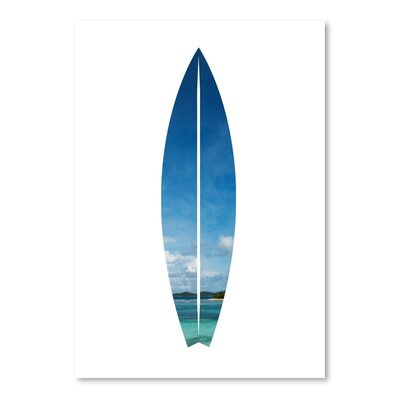 Americanflat 'Tropical Surfboard' by Jetty Printables Graphic Art
