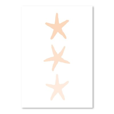 Americanflat 'Peach Starfish 3' by Jetty Printables Graphic Art