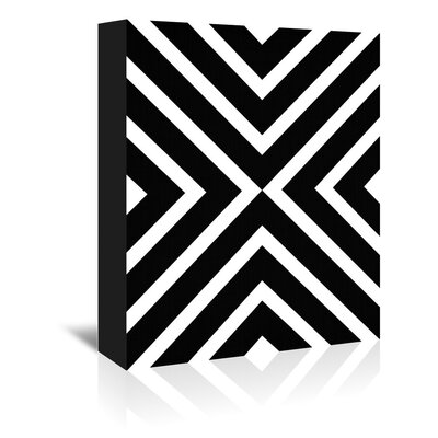 Americanflat 'Geometric White Black' by Lila and Lola Graphic Art Wrapped on Canvas