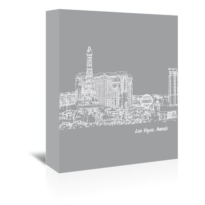 Americanflat 'Skyline Las Vegas 2' by Brooke Witt Graphic Art Wrapped on Canvas