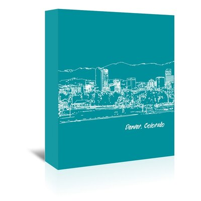 Americanflat 'Skyline Denver 4' by Brooke Witt Graphic Art Wrapped on Canvas
