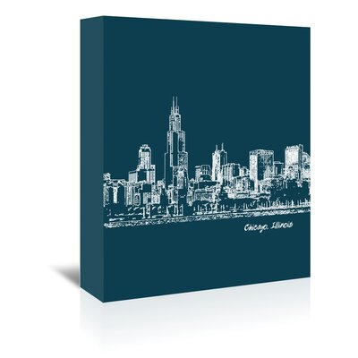 Americanflat 'Skyline Chicago 3' by Brooke Witt Graphic Art Wrapped on Canvas