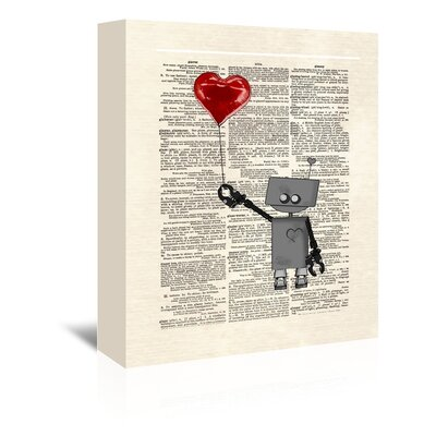 Americanflat 'Robot Love' by Matt Dinniman Graphic Art Wrapped on Canvas