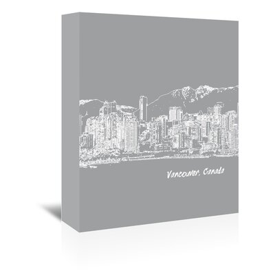 Americanflat 'Skyline Vancouver 2' by Brooke Witt Graphic Art Wrapped on Canvas