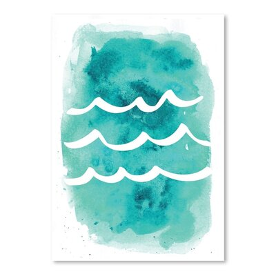 Americanflat 'Watercolour Waves' by Jetty Printables Graphic Art