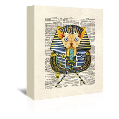 Americanflat 'Cat Pharaoh' by Matt Dinniman Graphic Art Wrapped on Canvas
