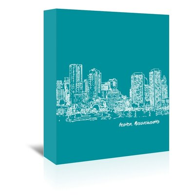 Americanflat 'Skyline Boston 4' by Brooke Witt Graphic Art Wrapped on Canvas
