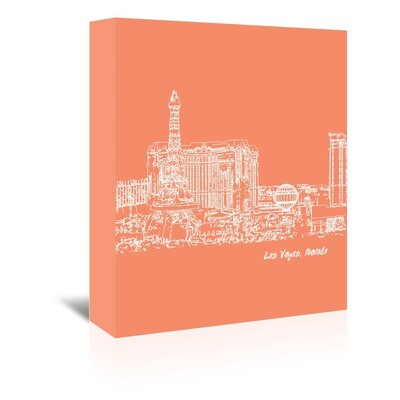 Americanflat 'Skyline LasVegas 8' by Brooke Witt Graphic Art Wrapped on Canvas