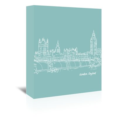 Americanflat 'Skyline London 5' by Brooke Witt Graphic Art Wrapped on Canvas