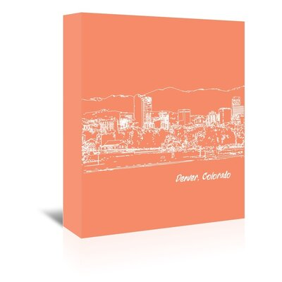 Americanflat 'Skyline Denver 8' by Brooke Witt Graphic Art Wrapped on Canvas