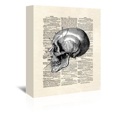 Americanflat 'Skull' by Matt Dinniman Graphic Art Wrapped on Canvas