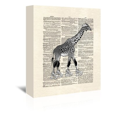 Americanflat 'Derby Giraffe' by Matt Dinniman Graphic Art Wrapped on Canvas
