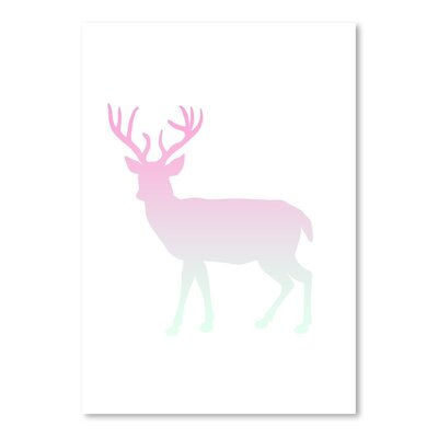 Americanflat 'Coral Mint Faded Deer Body' by Jetty Printables Graphic Art