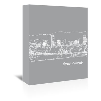 Americanflat 'Skyline Denver 2' by Brooke Witt Graphic Art Wrapped on Canvas