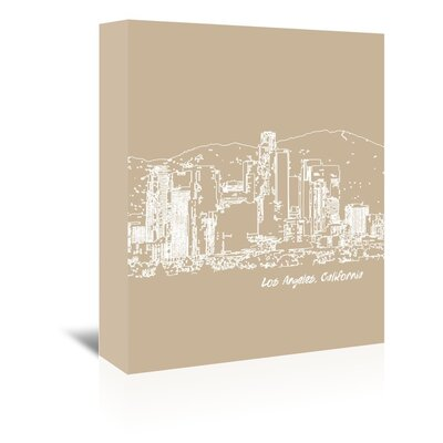Americanflat 'Skyline Los Angeles 7' by Brooke Witt Graphic Art Wrapped on Canvas