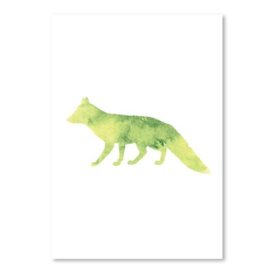 Americanflat 'Watercolour Fox' by Jetty Print Tables Graphic Art