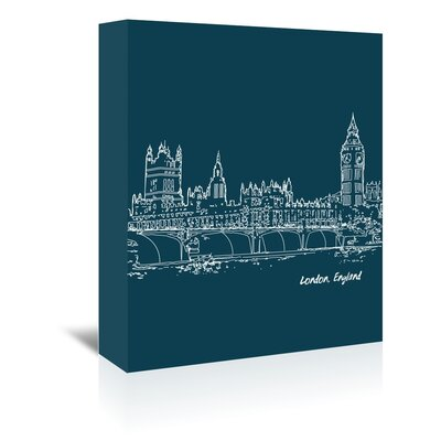 Americanflat 'Skyline London 3' by Brooke Witt Graphic Art Wrapped on Canvas