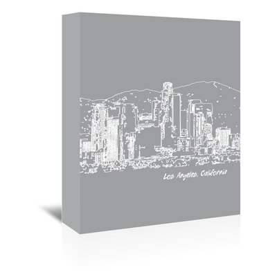 Americanflat 'Skyline Los Angeles 2' by Brooke Witt Graphic Art Wrapped on Canvas