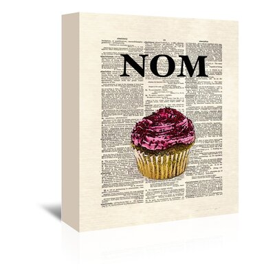 Americanflat 'Nom Cupcake 1' by Matt Dinniman Graphic Art Wrapped on Canvas