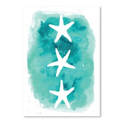 Americanflat 'Watercolour Starfish 3' by Jetty Printables Graphic Art