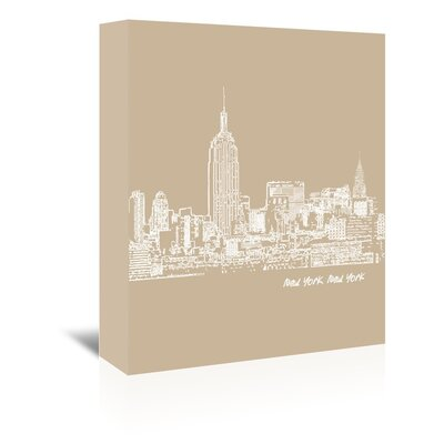 Americanflat 'Skyline New York City 7' by Brooke Witt Graphic Art Wrapped on Canvas
